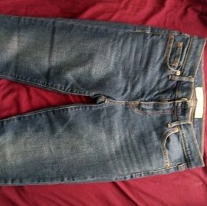GAP real straight jeans 25 S